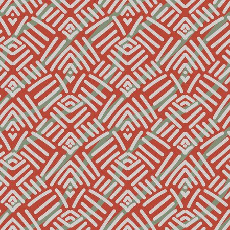 Abstract geometric ethnic seamless pattern with lines. Unisex surface print design.