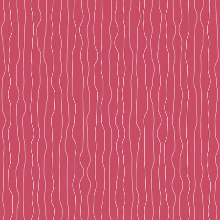 Vertical thin wavy stripes seamless pink pattern. Abstract texture surface print design.