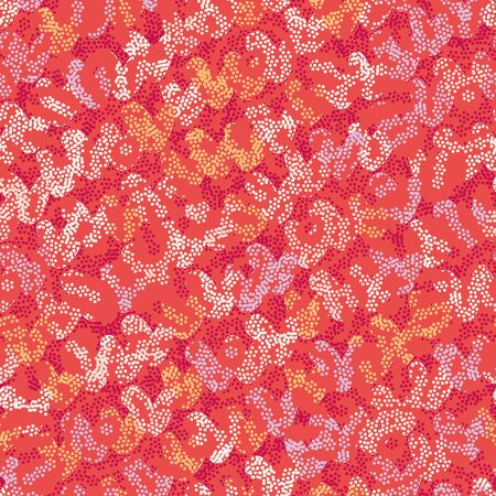 Abstract red seamless vector textured pattern. Decorative unisex surface print design. Great for fabrics, stationery and packaging.