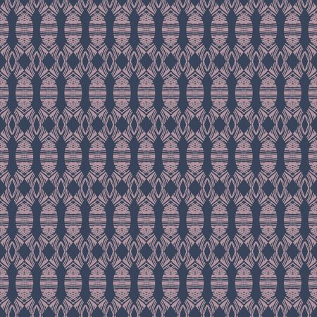 Abstract geometric ethnic seamless vector pattern in blue and lilac. Decorative unisex surface print design. Great for fashion and home decor fabrics, stationery and packaging.