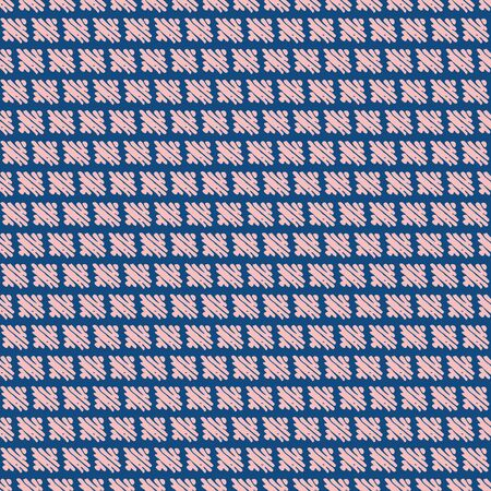 Pink bricks seamless vector pattern on classic blue background. Abstract surface print design. Great for fabrics, stationery and packaging.