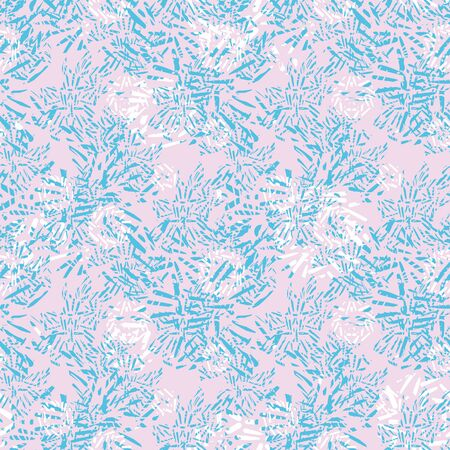 Pastel abstract textural seamless vector pattern in pink and blue. Girly surface print design. For backgrounds, fabrics, stationery and packaging.