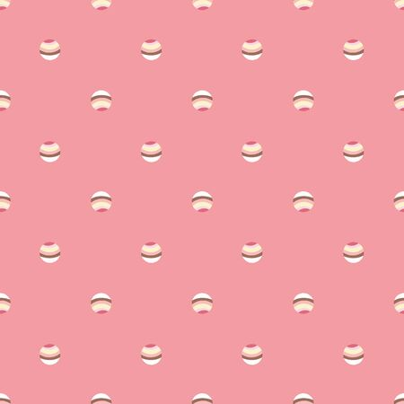 Simple cupcakes seamless vector polka dot pattern in pink colors. Minimal girly sweet surface print design. For cute fabrics, stationery and packaging.