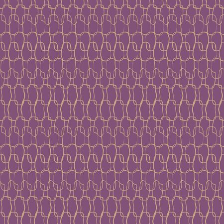 Crotchet stitches texture seamless vector purple pattern. Simple surface print design texture. For fabrics, stationery, backgrounds, and packaging.