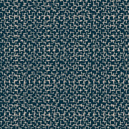 A coarse linen canvas texture seamless vector pattern. Surface print design for texturing, backgrounds, stationery, and packaging.  イラスト・ベクター素材