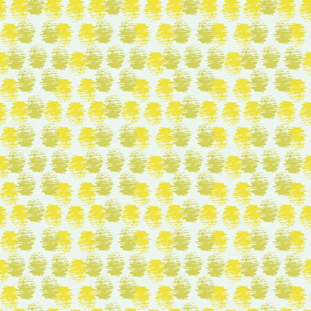 Lemon yellow and lime green dots seamless vector pattern on a light background. Surface print design for happy summertime fabrics, stationery, and packaging.
