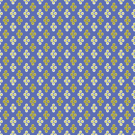 Lime dots seamless vector pattern on blue background. Simple surface print design. For fabric, stationery, and packaging.