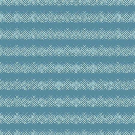 Horizontal textured stripes seamless vector pattern in muted blue color. Simple unisex surface print design. For fabrics, stationery, backgrounds, and packaging.