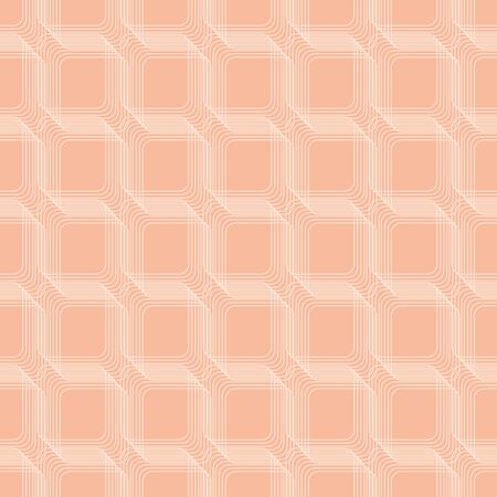 Pale pink abstract geometric seamless vector pattern. Minimal linear netting surface print design for backgrounds, textures, stationery, scrapbook paper, gift wrap, and packaging. Çizim