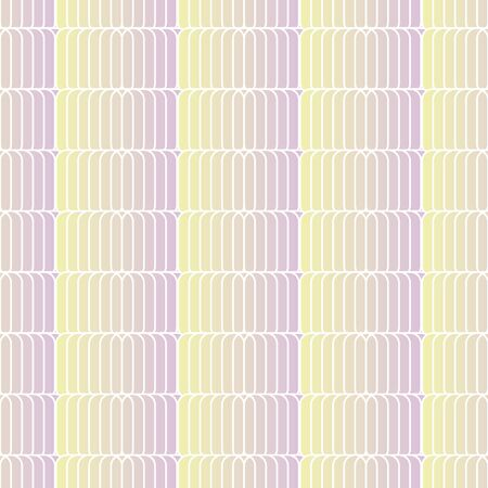 Pink and yellow gradient tiles seamless vector geometric pattern. Pastel ombre surface print design for backgrounds, stationery, textiles, and packaging. Çizim