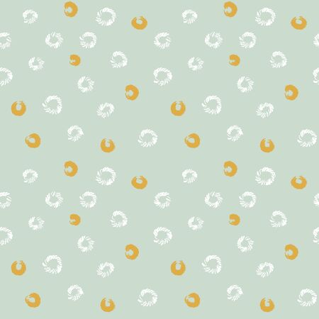 Little textured rings seamless vector polka dots pattern. Simple surface print design for backgrounds, textiles, stationery, fabrics, and packaging.