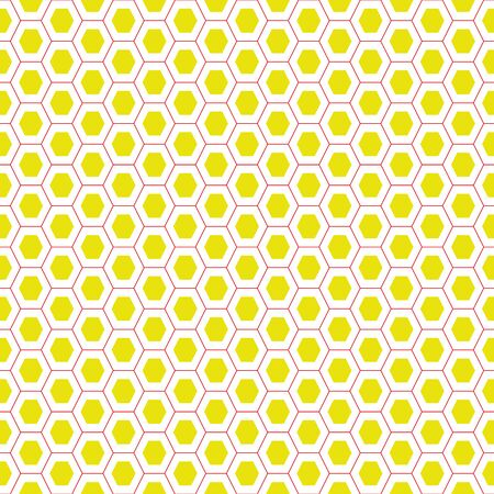 Honeycomb seamless vector pattern in yellow and white. Simple surface print design for fabrics, stationery, and packaging.