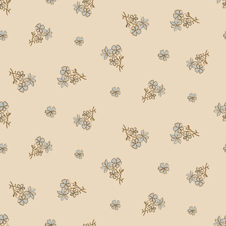 Daisy vintage floral seamless  pattern in pale colors. Simple girly surface print design