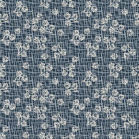 Black alder tree flower cones seamless pattern. Textured unisex surface print design