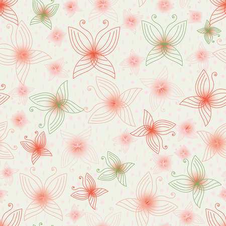Delicate butterlies in light colors seamless vector pattern. Sensitive quiet creatures surface print design. For fabrics, stationery, girly gift wrap, wedding invitatoins, and cosmetics packaging.
