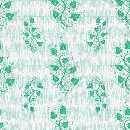 Tree braches seamless vector ornamental pattern. Peaceful nature retereat themed surface print design for fabric. stationery. scrapbook paper, packaging, gift wrap. textile, wallpaper, and home decor.