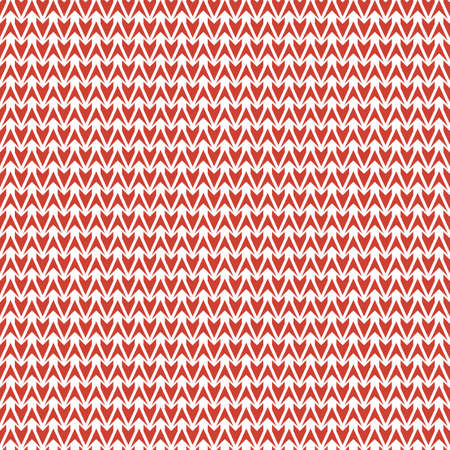 Red and white knit texture seamless vector pattern. Christmas sweater seamless vector pattern for fabrics, textiles, stationery, winter time gift wrap, home decor and packaging.