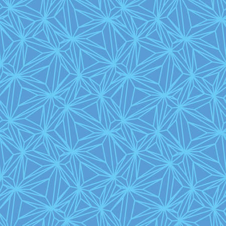 Blue netting star shapes seamless vector pattern. Unisex surface print design for fabrics, stationery, textiles, scrapbook, packaging, and gift wrap.