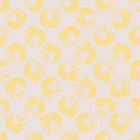 Yellow spotted texture seamless vector abstract pattern. Surface print design for backgrounds, fabrics, stationery, scrapbook paper, gift wrap, and packaging.