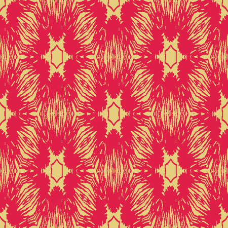 Red and yellow seamless vector abstract pattern. Surface print design for coordinate print on fabrics, stationery, textiles, scrapbook paper, gift wrap, and packaging. Illustration