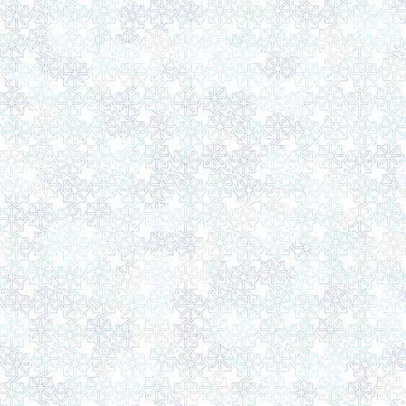 A light seamless vector pattern with blue snowflakes on white background. Good background for Christmas themed designs, stationery, gift wrap, and packaging.