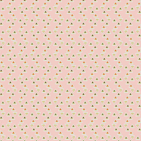 Simple triangles seamless vector pattern in light pink. Fun contemporary surface print design for fabrics, stationery, scrapbook paper, gift wrap, nursery home decor, gift wrap, textiles and packaging