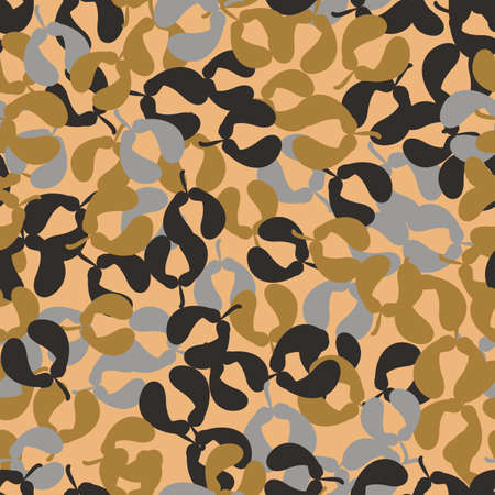 Maple seed helicopters seamless vector pattern. Autumnal surface pritn design for fabrics, stationery, scrapbook, textiles, gift wrap, and packaging.