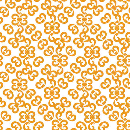 Simple orange and white ornamental seamless vector pattern. Surface print design for fabrics, stationery, scrapbook paper, gift wrap, textiles, and packaging.