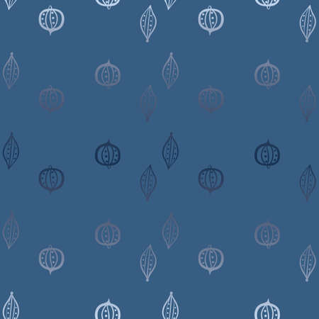 Blue christmas ornaments seamless vector pattern. Gradient surface print design for backgrounds, fabrics, stationery, scrapbook paper, gift wrap, textiles, home decor, labels, and packaging.