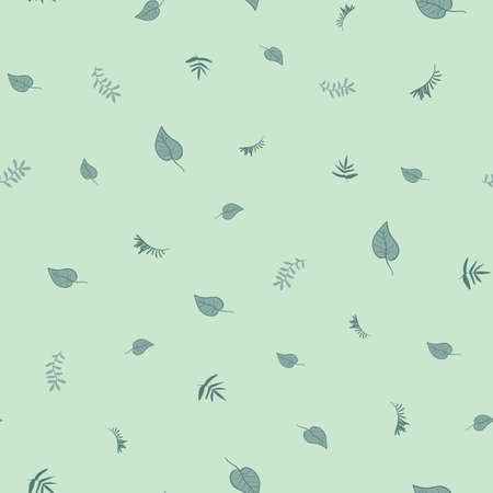 Scattered leaves ditsy seamless vector pattern. Minimal botanical surface print design for fabrics, stationery, scrapbook paper, gift wrap, and packaging.