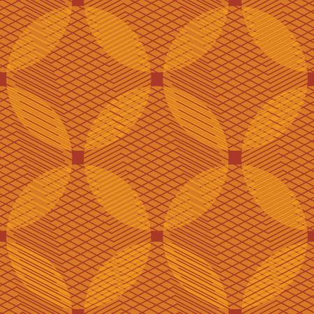 Orange circles seamless vector pattern. Abstract geometric surface print design for fabrics, stationery, scrapbook paper, gift wrap, textiles, and packaging.