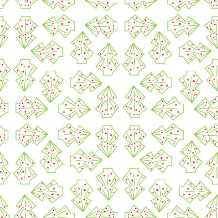 Light christmas trees seamless vector pattern. Simple seasonal surface print design for fabrics, stationery, backgrounds, textiles, gift wrapping paper, scrapbook, home decor, and packaging. Illustration