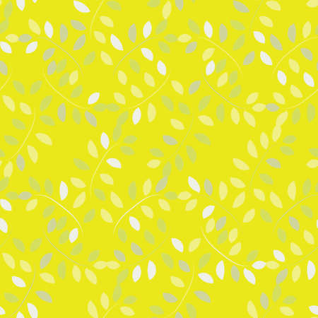 Yellow leaves seamless vector pattern. Botanical surface print design for fabrics, stationery, scrapbook paper, gift wrap, textiles, backgrounds, and packaging. Standard-Bild - 161770386