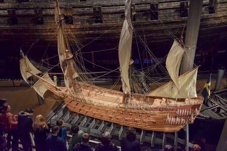 白で隔離されるアンティーク バイキング船モデル の写真素材・画像素材 ...