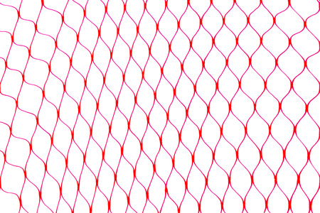Red hexagon shape net on the white background surface