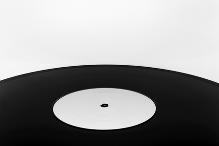 Background surface of vinyl LP with copy space on white background