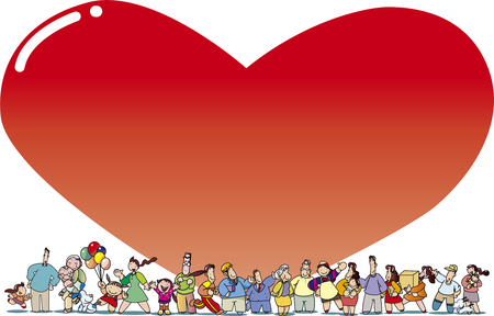 heart-warm people and heart background