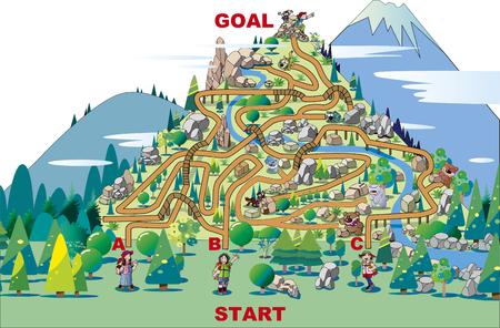 Climbing maze Stock Illustratie