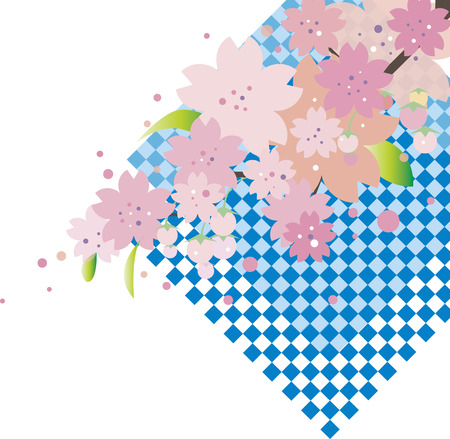 Cherry blossoms and lattice background