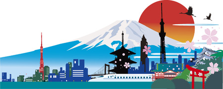 Japanese tourism Illustration