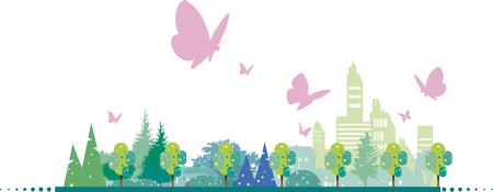A city where butterflies fly