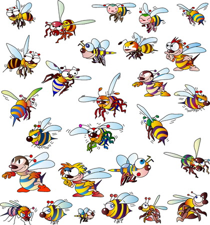 Various bees Vettoriali