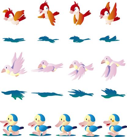 Birds and ducks Иллюстрация