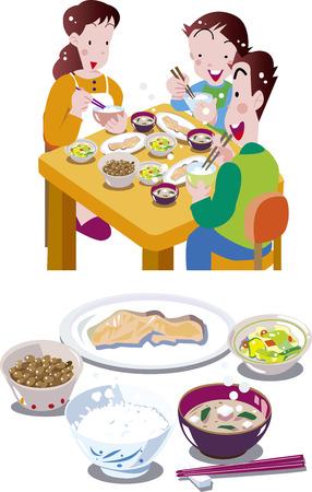 Japanese breakfast Illustration