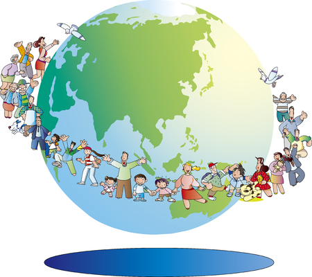 The earth is a friend Illustration