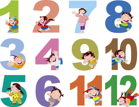 Numbers and children 12 months