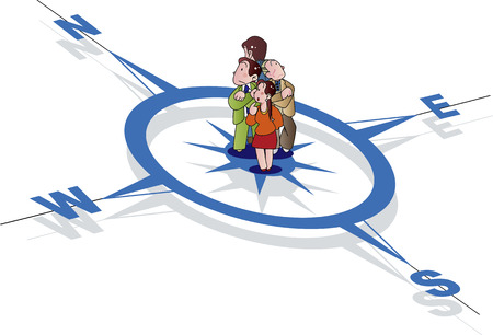 compass Ilustración de vector