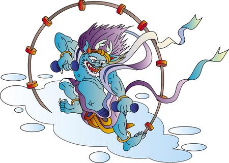 Thunder god Ilustração