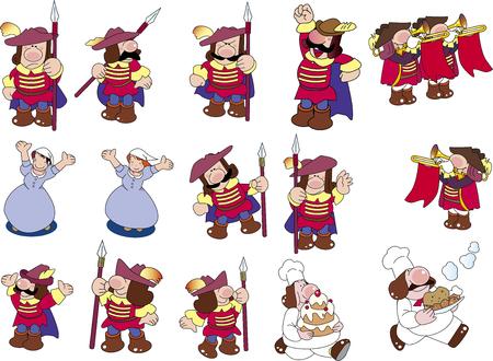 Castle people Illustration