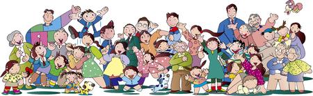Crowd illustration  イラスト・ベクター素材